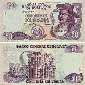 Валюта Боливии называется боливиано