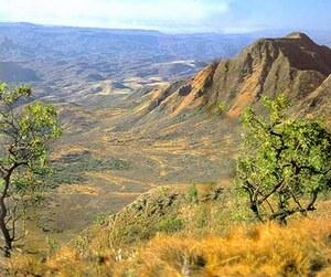 Бóльшую часть территории страны занимает плоскогорье, сложенное преимущественно сланцами и песчаниками