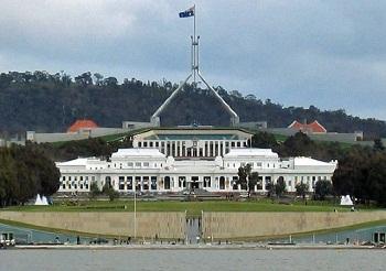 Канберра - здание парламента