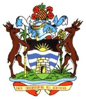 Щит герба Антигуа и Барбуды