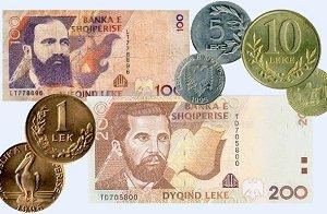 Обмен валюты в Албании