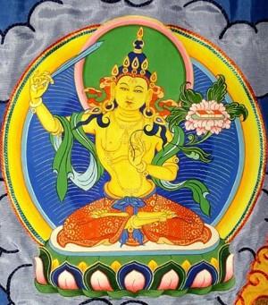 Божеством Манджушри - символ мудрости