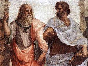 философ Аристотель и Платон