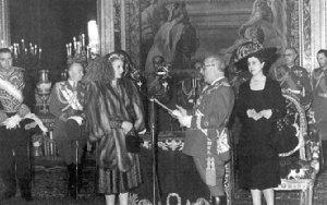 Эва Дуарте де Перон -церемония