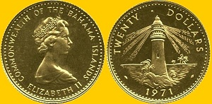 Багамская монета 1971 года