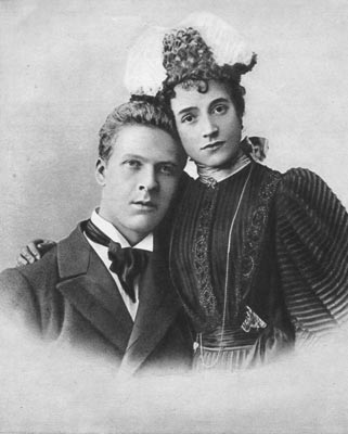 1893 г. Ф.И.Шаляпин и И.И. Торнаги