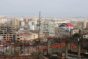 албанский город, вид сверху