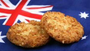 Национальная гордость Австралии - знаменитое печенье анцакс из овсяных хлопьев с кокосовым орехом
