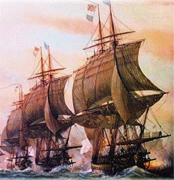 во время шторма, несколько лет назад, 2 больших корабля налетели на рифы
