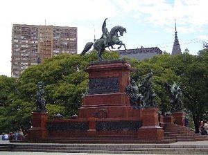 площади Сан-Мартин в Буэнос-Айресе