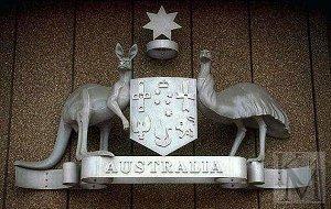 На гербе Австралии