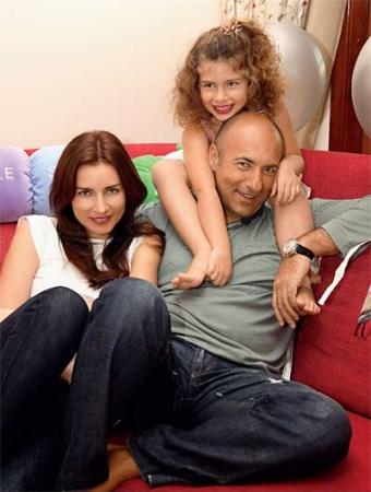 Игорь Крутой, жена Ольга и дочь Саша