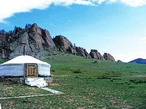 Монгольские юрты изготовлены из нескольких слоев войлока