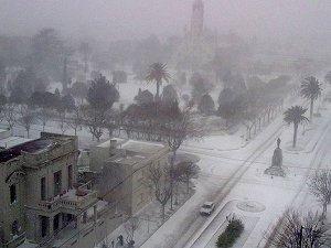 Аргентина под снегом