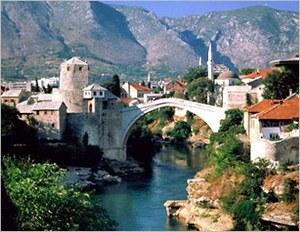Обширная горная область к западу от реки Дрин, в бассейне рек Босна и Врбас, была освоена славянами в VI - VII веках