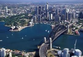 Вид на австралийский мост Харбор Бридж