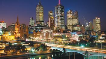 Австралия. Ночной Мельбурн