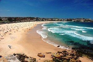 на роскошных пляжах Бонди