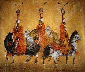 Монгольская живопись проникнута всеми сторонами жизни коренного народа