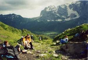 Фотография приюта и горы Фишт