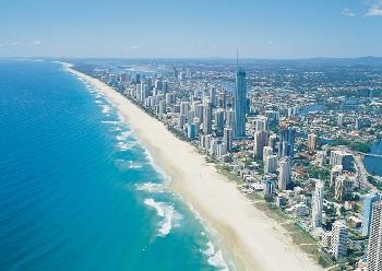 Город Surfers Paradise - центр побережья