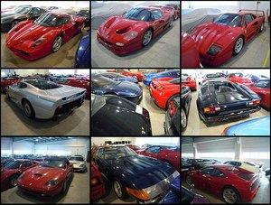 В гараже хранятся целые семейства автомобилей Ferrari