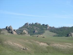 Территория Гоби занимает всю южную половину Монголии