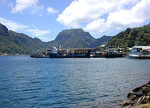 Вид на Американское Самоа