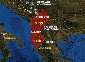 Распространённость албанского языка