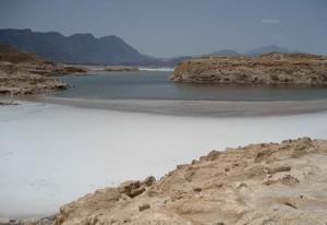 Озеро Ассаль - солёный водоём