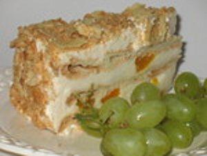 пирог с винным кремом